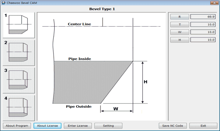 Cheewoo Bevel CAM pipe beveling cutting CAM software program