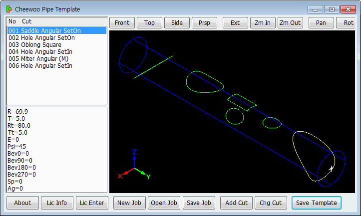 Cheewoo Pipe Cutting Template